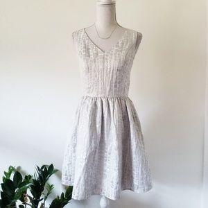 Nordstrom Mac + Jac Silver Cocktail Dress M